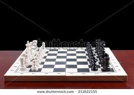 how to set up chess table side view chess board set begin stock photo royalty free 211622155