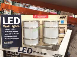 costco led lights outdoor feit electric led wall sconce indoor outdoor 2 pack costcochaser