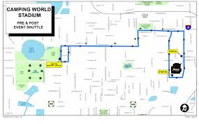 Orlando Florida Map Maps Camping World Stadium