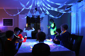 Glow In The Dark Home Decor The Glow In The Dark Party Decor In Dining Room Glow In The Dark