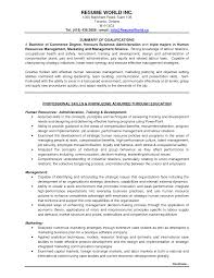 Human Resources Resume Objective Examples by Sample Human Resources Resume Entry Level Free Resume Example