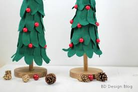 bake craft sew decorate diy felt christmas trees classy clutter