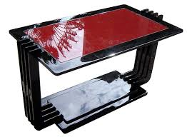 red and black coffee table black lacquer red vitrolite coffee table modernism gallery