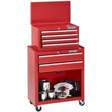 craftsman home series 6 drawer tool center with bulk storage panel