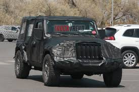 jeep truck 2018 lifted spy shots 2018 jeep wrangler jl inches closer to production