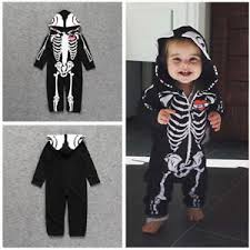 Halloween Costume Skeleton Newborn Baby Boy Halloween Costume Skeleton Romper Bodysuit