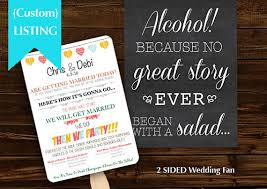 personalized wedding programs personalized wedding program fan humerous wedding wedding