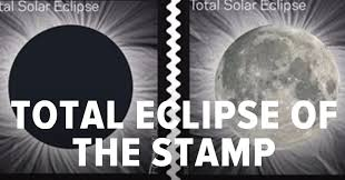 new usps eclipse stamp transforms when you touch it huffpost