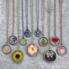 flower necklace etsy images Pressed flower necklace by hermadeupworld on etsy her made up jpg