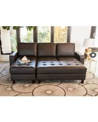 claire leather reversible sectional and ottoman claire leather reversible sectional and ottoman startling spring