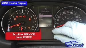 nissan altima 2016 awd 2012 nissan rogue oil light reset youtube
