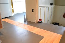 Transitioning Laminate Flooring Between Rooms A Home In The Making Renovate How To Paint A Kitchen Floor