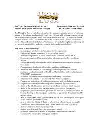 Restuarant Manager Resume Restaurant Floor Manager Resume And Job Description Of Restaurant