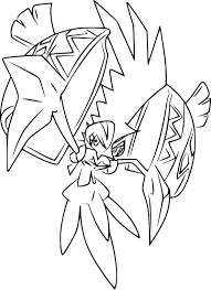 pokemon tapu koko coloring page