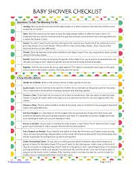 baby shower question 9 baby showers checklist exles sles
