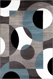 Gray Blue Area Rug Rugshop Modern Circles Area Rug 7 10 X 10 2 Blue