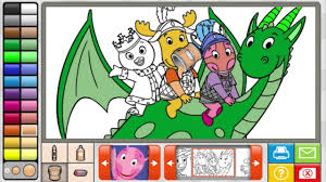 backyardigans coloring book game 2014