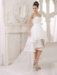 two wedding dress a lien strapless two in one wedding dress with panel milanoo