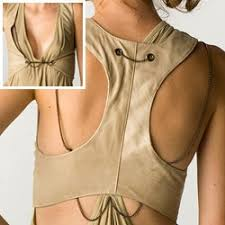 leather racerback vest by society for rational dress 344