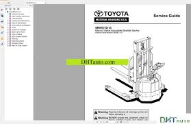 toyota forklift trucks full set manual automotive library