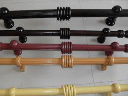 decor matte black wood curtain rods with ball finial for curtain