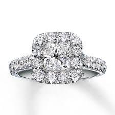 2ct engagement rings neil engagement ring 2 ct tw diamonds 14k white gold