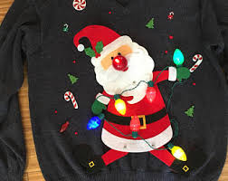 Ugly Christmas Sweater With Lights Ugly Christmas Sweater Etsy