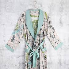 dressing gown streets of map dressing gown by angel
