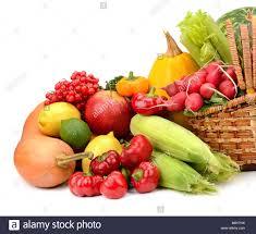 fruit and vegetable basket food basket isolated fruit vegetables stock photos food basket