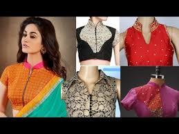 latest u0026 most beautifull chinees collar neck blouse designes 2017