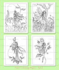 printable flower fairies coloring pages set 2 4 flower fairy