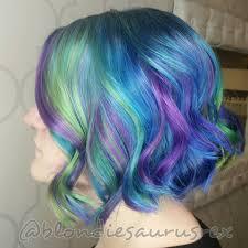 Coloring Ideas by Rainbow Neon Hair Dye Ideas For Short Curls Fun Hair Pinterest