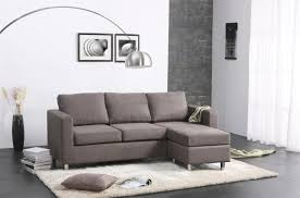 furniture contemporary style living room with grey mini sectional