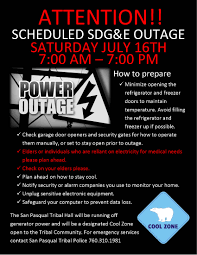 Sdge Outage Map Planned Power Outage On July 16th 2016