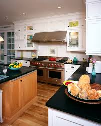 kitchen room two tone kitchen traditional wood floor large oven