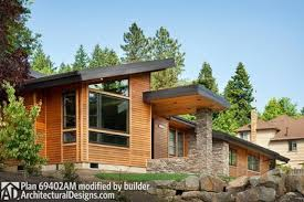 contemporary home plans with photos single story contemporary house plan 69402am architectural