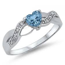 925 sterling silver v shaped heart promise ring size 5 6 7 8 9 10 wedding ideas aquamarine 12 weddbook
