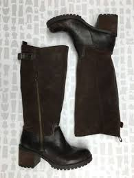 womens brown leather boots size 9