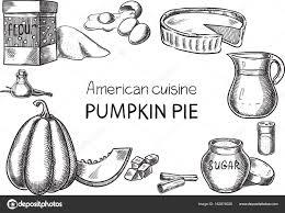 dessin recette de cuisine cuisine américaine vector conceptuel créatif croquis illustration