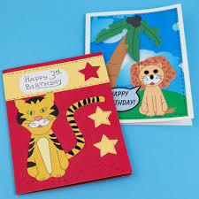 Jungle Birthday Card Make Lion And Tiger Birthday Cards For Kids Greeting Card Ideas