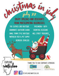 explore waterloo christmas in july city of waterloo il