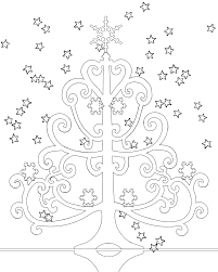 curly christmas tree for colouring free wallpaper