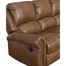 cognac leather reclining sofa abbyson skyler cognac leather reclining sofa free shipping today