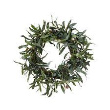 faux olive wreath small oka