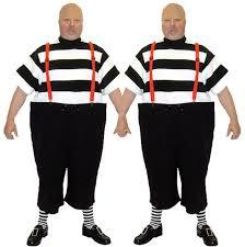Tweedle Dee And Tweedle Dum Costumes Alice In Wonderland Make Believe Costume Hire