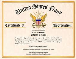 sample text for certificate of appreciation military veterans appreciation certificates