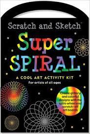 scratch and sketch super spiral kit 刮畫組 禮筑外文書店
