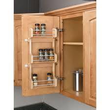 cabinet door mounted spice rack rev a shelf helps to maintain shelf space and keep spices within