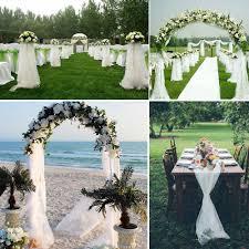 wedding arches ebay 1000cm 70cm 500cm 140cm white sheer diy organza fabric for wedding