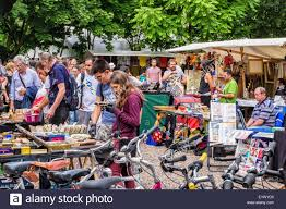 second berlin berlin mauer park flea market stalls selling second goods